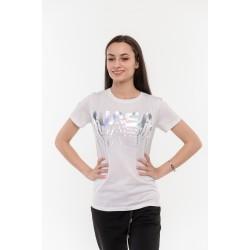 Бяла блуза с надпис Alexandra Italy / 103