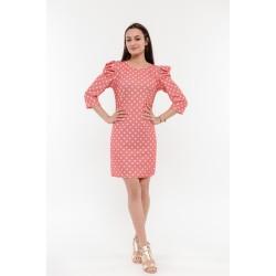 Розова рокля с бели точки Alexandra Italy / 2510