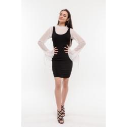 Дамска рокля бяло и черно Alexandra Italy / 21349