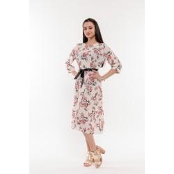 Бяла рокля с флорали Alexandra Italy / 3280