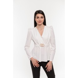 Елегантна бяла блуза Alexandra Italy / 3228