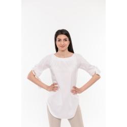 Удължена бяла риза с връзки Alexandra Italy / 17196