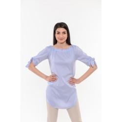 Удължена синя риза с връзки Alexandra Italy / 17196