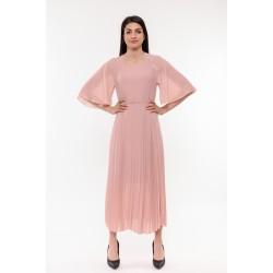 Плисирана розова рокля Alexandra Italy / 1534