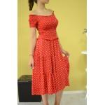 Дамска рокля Alexandra Italy 89821-червена