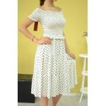 Дамска рокля Alexandra Italy 89821-бяла