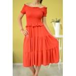 Дамска рокля Alexandra Italy 8982-червена