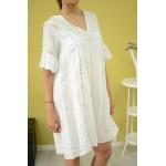 Дамска рокля Alexandra Italy 10236 - бяла