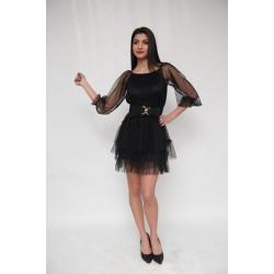 Стилна дамска рокля с колан