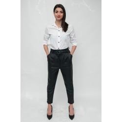 Стилна кожен дамски панталон