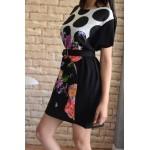 Дамска рокля Alexandra Italy 395 - черен цвят