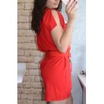 Дамска рокля Alexandra Italy 395 - червен цвят