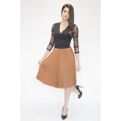 Елегантна дамска плисирана пола