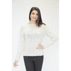 Топъл дамски пуловер