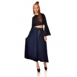 Дамска дълга пола в тъмно син цвят