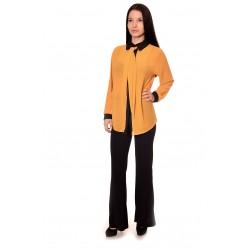Дамска риза Alexandra Italy 1222 - жълт цвят