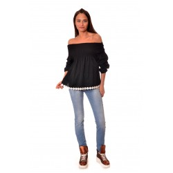 Дамска риза Alexandra Italy 161/0 - черен цвят