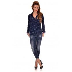 Дамска риза Alexandra Italy 8232 - тъмно син цвят