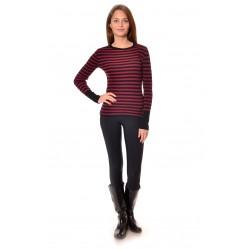 Дамска блуза Alexandra Italy 1201 - червено - черно райе