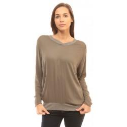 Стилна дамска блуза в бежово Alexandra Italy - 2
