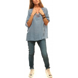 Дамска блуза от Alexandra Italy - син цвят - 520005