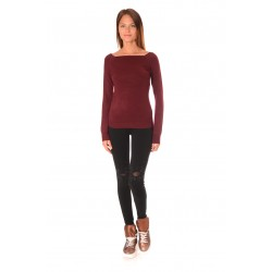 Дамска блуза Alexandra Italy 5311, Бордо