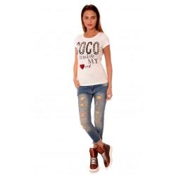 Дамска блуза Alexandra Italy 6008, Бял