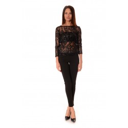 Дамска блуза Alexandra Italy 7853- Черен