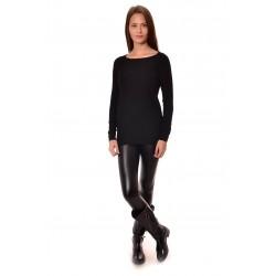 Дамски пуловер Alexandra Italy 8012 - черен цвят