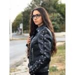 Дамско късо кожено яке