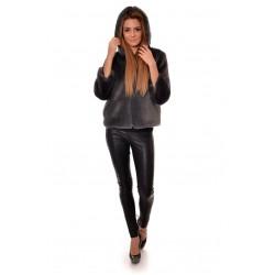 Дамско палто Alexandra Italy 80001 - тъмно сив цвят