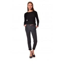 Дамски панталон Alexandra Italy 842/0 - тъмно сив пепит