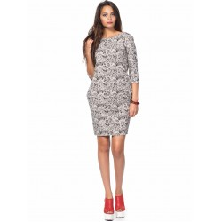 Дамска рокля Alexandra Italy 0017 - сиво и черно