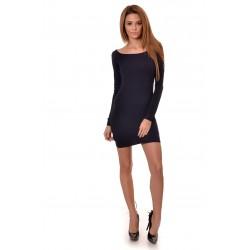Дамска рокля Alexandra Italy 2717 - тъмно син цвят
