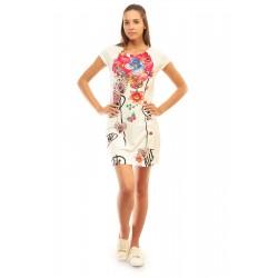 Дамска рокля в бяло Alexandra Italy - 3189