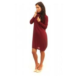 Дамска рокля Alexandra Italy - 540-Цвят Бордо