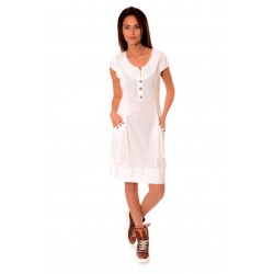 Дамска рокля Alexandra Italy 924/2, Бял