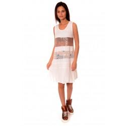 Дамска рокля Alexandra Italy 932/2, Бял