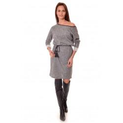 Дамска рокля Alexandra Italy 940/1 - цвят тъмно сив