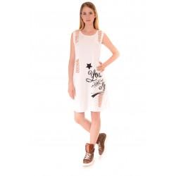 Дамска рокля Alexandra Italy 948/3, Бял