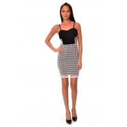 Дамска рокля Alexandra Italy 956/0 - бял и черен цвят