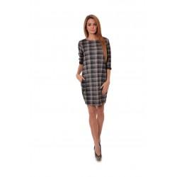 Дамска рокля Alexandra Italy 984/0 - сив цвят