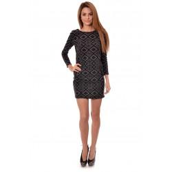 Дамска рокля Alexandra Italy 989/0 - сиво и черно
