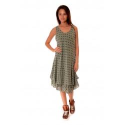 Дамска рокля Alexandra Italy 993/2, маслено зелена