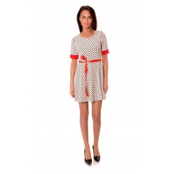 Дамска рокля Alexandra Italy 996/0-2 - бял цвят